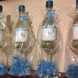 Baby Shower Party Favor Mini Wine Bottle Label Custom | Etsy