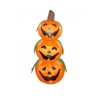 The Holiday Aisle Halloween Inflatable 3 Pumpkins Decoration