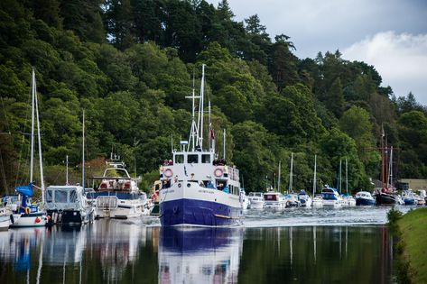 Cruises depart from An Talla on the Caledonian Canal for Loch Ness