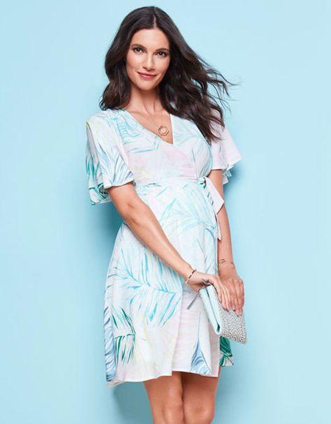 ccee7e4f706ae White Double Layer Maternity & Nursing Dress