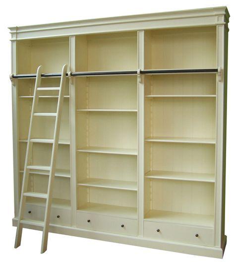 Beste Brighton Library, Boekenkast met ladder, 85/171/250/330 cm (met CF-71