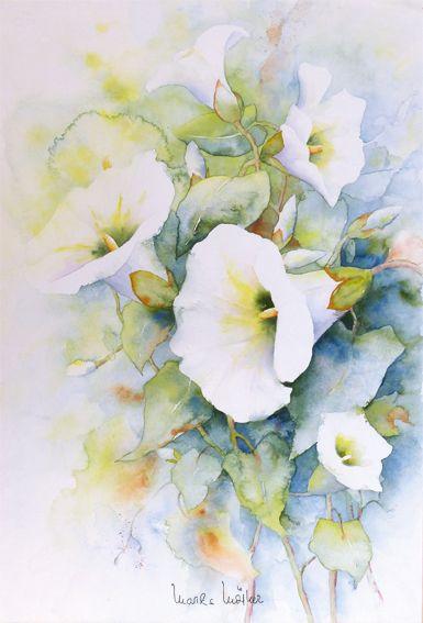 Blumenaquarelle Aquarelle Von Marlis Morker Blumen Aquarell Blumen Gemalde Blumen Malen