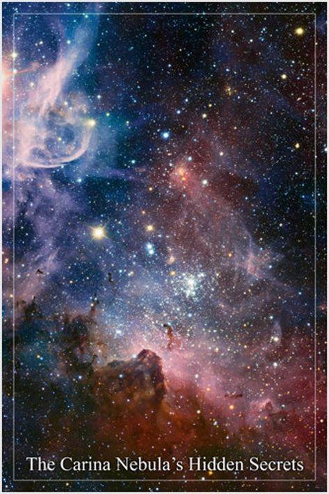 The Carina Nebula's Hidden Secrets Hubble Space Image Poster 24x36 Stars