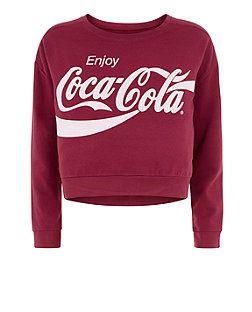 Teens Dark Red Coca-Cola Sweater   New Look