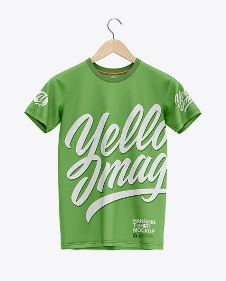 Download Hanging T Shirt Mockup Front View Tshirt Mockup Shirt Mockup Design Mockup Free