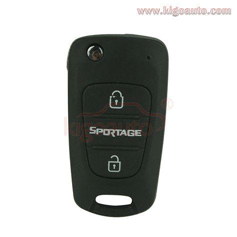 Auto Car Key Shell for Hyundai I30 I40 I20 IX35 for Kia Sportage Cerato Picanto Rio K2 K5 3 Button Flip Folding Housing