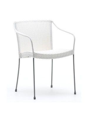 Fauteuil de jardin chaise d'extérieur design mobilier résine tressée