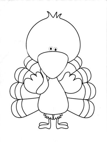 Blank Turkey Coloring Pages Turkey Coloring Pages Turkey Drawing Coloring Pages