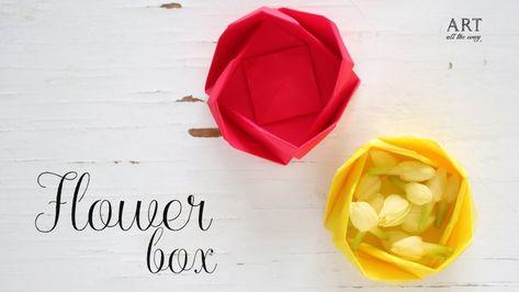Easy☺︎ Origami Paper Flower Box Tutorial - Origami Kawaii〔#053 ...   266x473