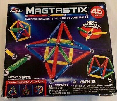 Cra-Z-Art Magtastix Balls /& Rods Building Kit 45 Piece