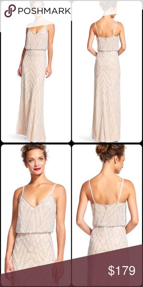 9832e71002 Adrianna Papell Diamond beaded blouson dress Adrianna Papell Diamond beaded  blouson dress Great For  Bridesmaids