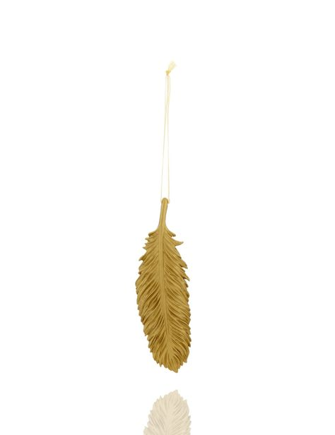 Golden Feather Christmas Tree Decoration