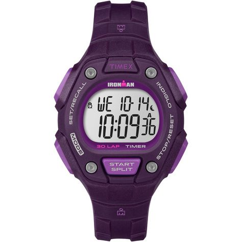 e893a8fc0a78 Timex Women s TW5K897009J Ironman Classic 30 Digital Display Quartz Purple  Watch