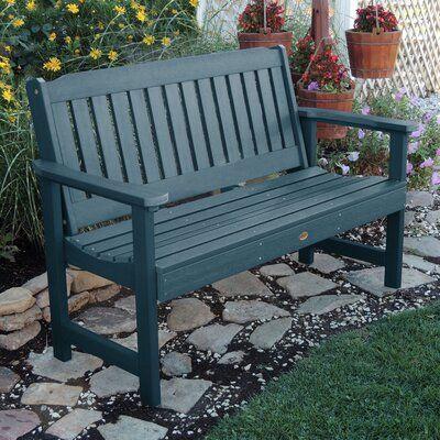 Amelia Plastic Garden Bench Size 35 H X 64 W X 25 D Color