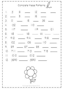 A Basic Worksheet With Number Patterns Ranging From Numbers 0 1000 Number Patterns Worksheets Pattern Worksheet Number Patterns