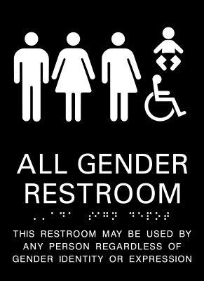 All Gender Restroom Signs From ADA Sign Depot ADA Signs ADA - All gender bathroom sign for bathroom decor ideas