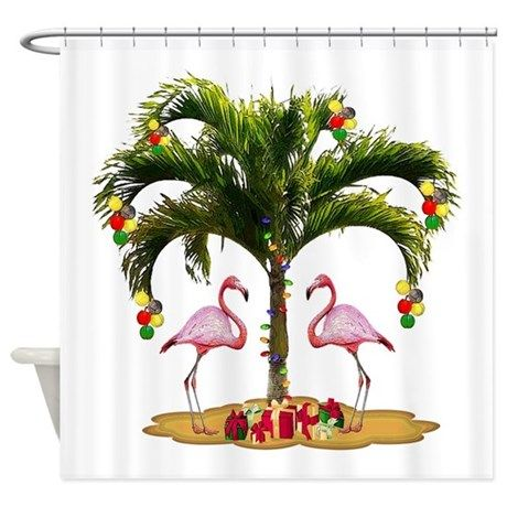 Tropical Holiday Shower Curtain By Phyredancer Holiday Shower