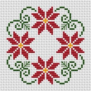styled Christmas wreath cross stitch patter with three colors: green Beautiful styled Christmas wreath cross stitch patter with three colors: green, . -Beautiful styled Christmas wreath cross stitch patter with three colors: green, . Christmas Cross Stitch Alphabet, Xmas Cross Stitch, Cross Stitch Bookmarks, Cross Stitch Borders, Cross Stitch Samplers, Cross Stitch Flowers, Cross Stitch Charts, Cross Stitch Designs, Cross Stitching