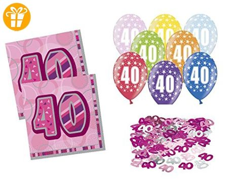 Party Deko Set 40 Geburtstag 23 Teilig Frau Raum Deko Shirts Zum