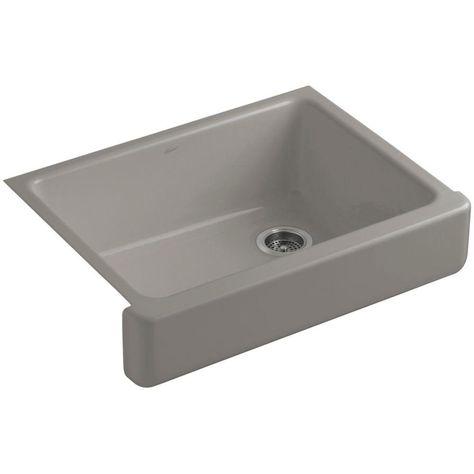 Kohler Whitehaven Self Trimming 30 Under Mount Single Bowl Kitchen Sink With Short A Single Basin Kitchen Sink Farmhouse Sink Kitchen Single Bowl Kitchen Sink