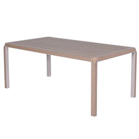 Hochwertiger Gartentisch Esstisch Vintage Teak Edler Holz Optik Esstisch Vintage Wintergarten Mobel Tisch