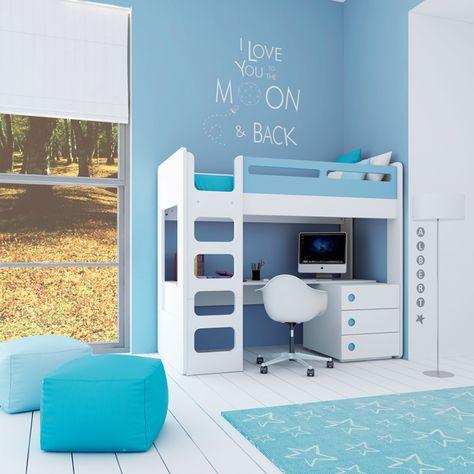 34 Ideas De Camas Con Escritorio Abajo Ideas De Cama Camarote Con Escritorio Dormitorios