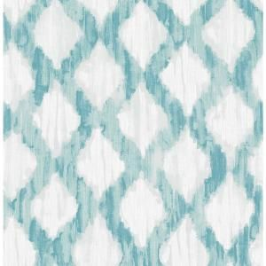 Roommates Blue Watercolor Stripe Vinyl Peelable Roll Covers 28 18 Sq Ft Rmk9061wp The Home Depot Peel And Stick Wallpaper Nuwallpaper Brewster Wallpaper