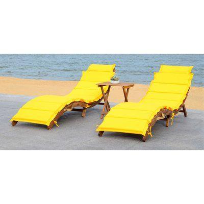 Salma Chaise Lounge With Cushion Fabric