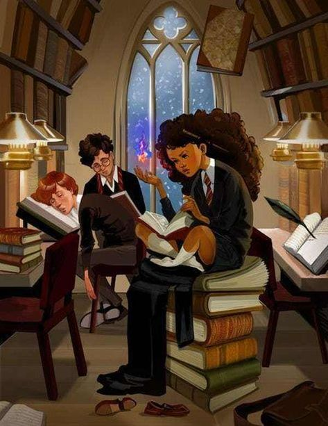 It's Not A Study Sesh If R... is listed (or ranked) 1 on the list Gorgeous Racebent Harry Potter Fan Art
