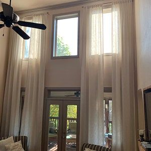 Extra Long Luxury Solid Linen Curtain Custom Made 12 13 14 15 Etsy In 2020 Drapes Curtains Sheers Curtains Living Room Curtains