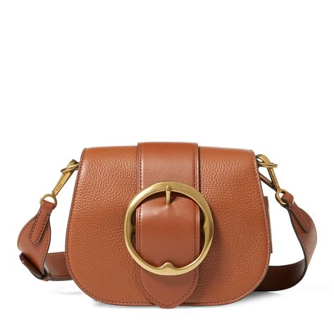 cb26856083bc POLO RALPH LAUREN Pebbled Leather Lennox Bag