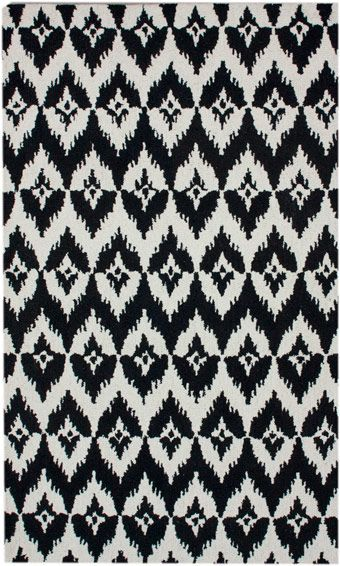 Cheveron Ikat Black Rug from the Bauhaus I collection at Modern Area Rugs