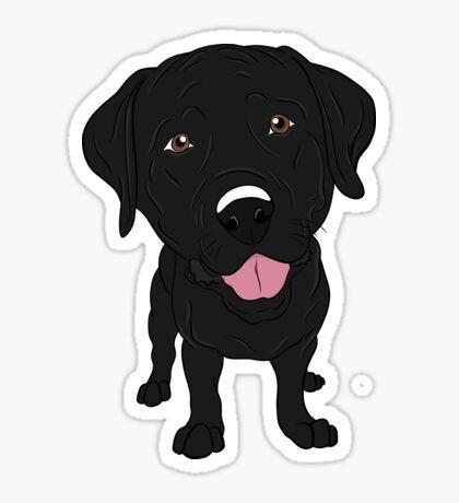 Handsome Black Labrador Retriever Sticker By Rmcbuckeye In 2021 Black Labrador Retriever Black Labrador Labrador