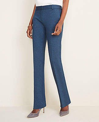 Ann Taylor The Petite Straight Pant in Ponte