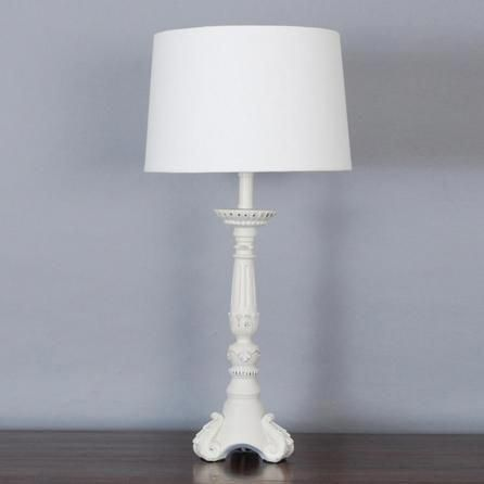 Evelyn Tall Washed Resin Table Lamp
