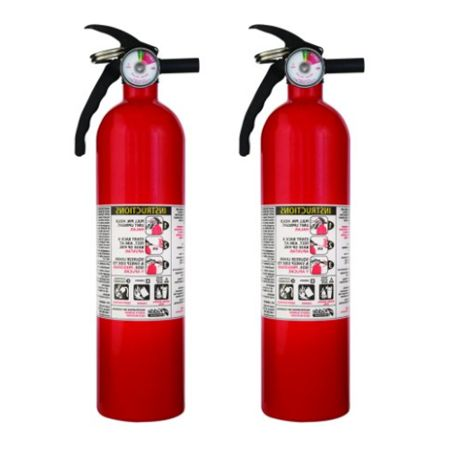 Kidde 1a10bc Basic Use Fire Extinguishers Rust Resistant Multipurpose Lightweight 2 5 Lbs 2 Pack Fire Extinguisher Fire Rust
