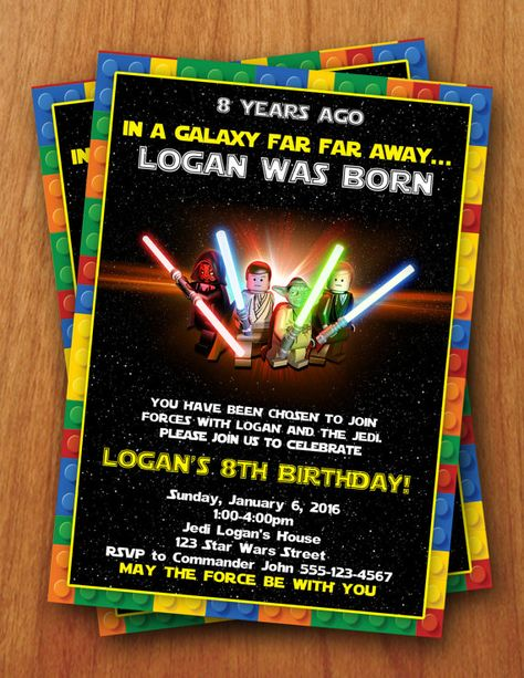 Lego Star Wars Digital Birthday Invitation by ThePurpleMonkeyShop