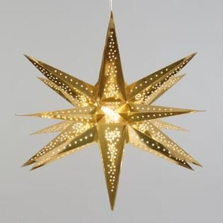 Gold 3d Multi Point Collapsible Paper Star Lantern Paper Star Lanterns Star Lanterns Paper Stars