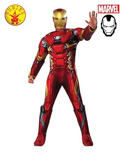 Deluxe Muscle Chest Costume Civil War Child Iron Man Captain America