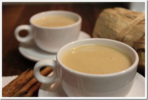 Atole de harina de maiz con leche