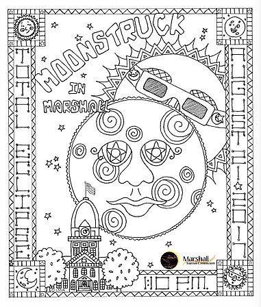 marshall mo 2017 solar eclipse coloring contest pinterest solar eclipse and solar eclipse 2017