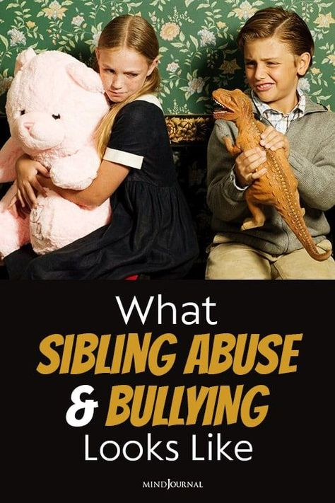 Sibling abuse and bullying can have a severe psychological and emotional impact on children and can be highly traumatic and stressful, even in their adulthood. #abuse #bullying #siblingabuse