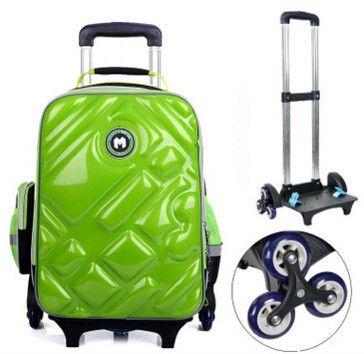 47a62ca6c536 2 6 Wheels Girls Waterproof School Bag Fashion Boy Backpack Trolley Bag  Children School Bags Kids Wheeled Bags Girls Backpack