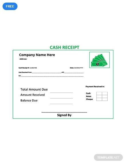 Free Cash Receipt Template Pdf Word Doc Excel Apple Mac Pages Apple Numbers Illustrator Receipt Template Words Template Printable