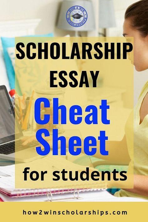 Scholarship Essay Cheat Sheet - FREE Printable