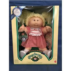 Cabbage Patch Doll In Box Marked 15th Anniversary Special Edition With Certificate Laurette Galina Cabbage Patch Dolls 15th Anniversary Vintage Cabbage Patch Dolls