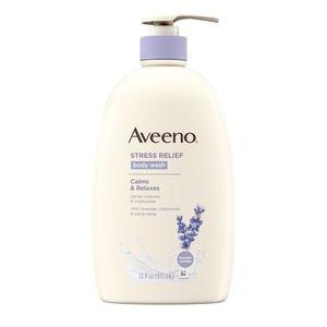 Aveeno Stress Relief Body Wash With Lavender Chamomile 33 Oz