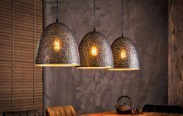 Retro Decken Pendel Leuchte Ess Zimmer Beleuchtung Hänge Lampe Glas strukturiert