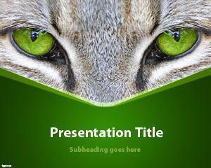 Cat Eyes Powerpoint Template Free Cat Eyes Powerpoint