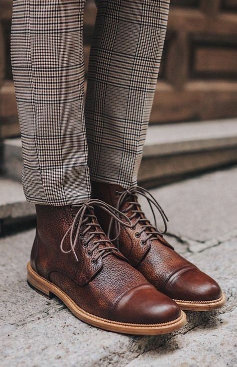 70a5b6ce3f5 Rome boots from Taft Clothing with their plaid pants. #taft #boots ...